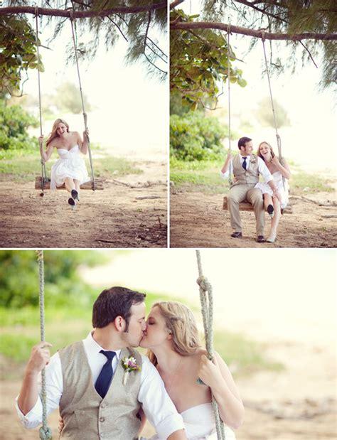 swing wedding a hawaii backyard wedding kate greg green wedding