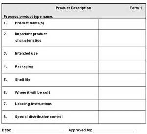 New Product Specification Template by Section 3 Food Safety Enhancement Program Manual Food