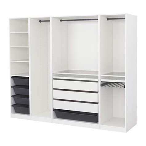 Wardrobes Ikea Uk by Pax Wardrobe White 250x58x201 Cm Ikea