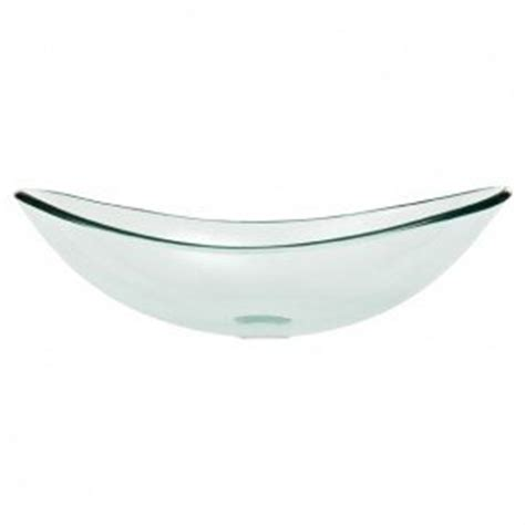 oval glass vessel sink foter
