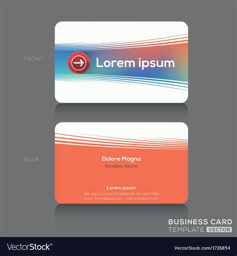 password business card template business cards name card design template vector image