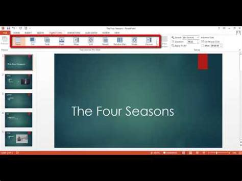 powerpoint tutorial transitions powerpoint tutorial 5 of 5 how to add transitions to