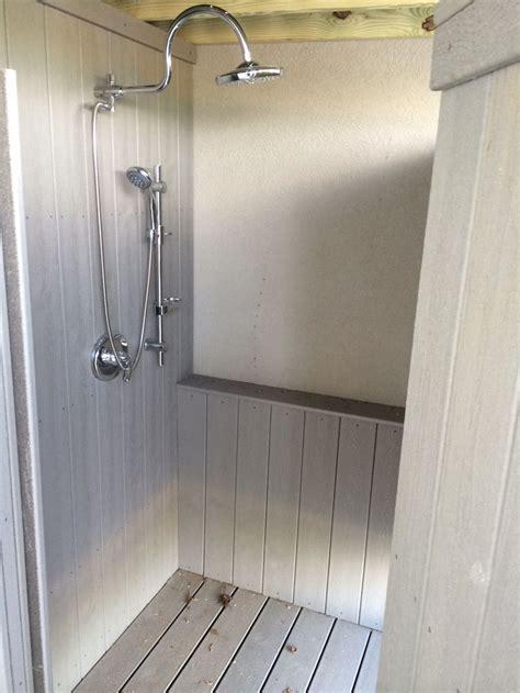 Outdoor showers, Decks and Deck flooring on Pinterest