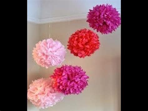 How To Make Decoration Out Of Tissue Paper - diy tissue paper decorations