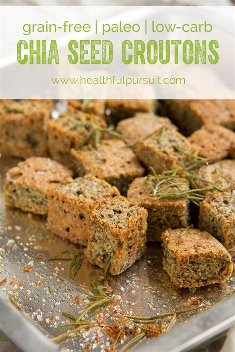 whole grains keto grain free keto croutons with chia seed healthful pursuit