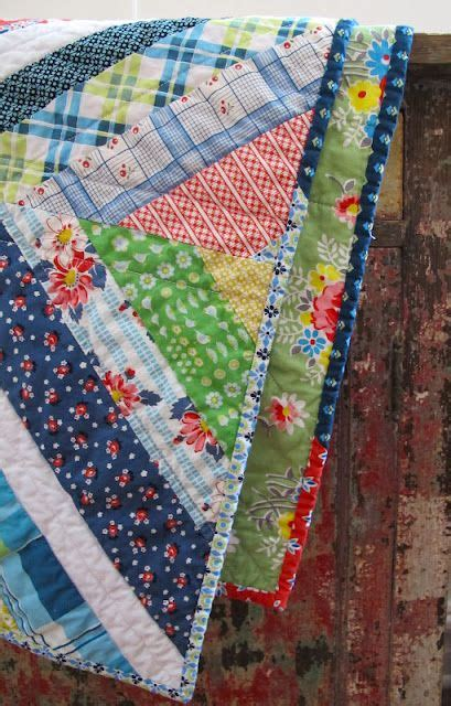 Scrappy Quilt Binding by String Quilt With Scrappy Binding Quilts