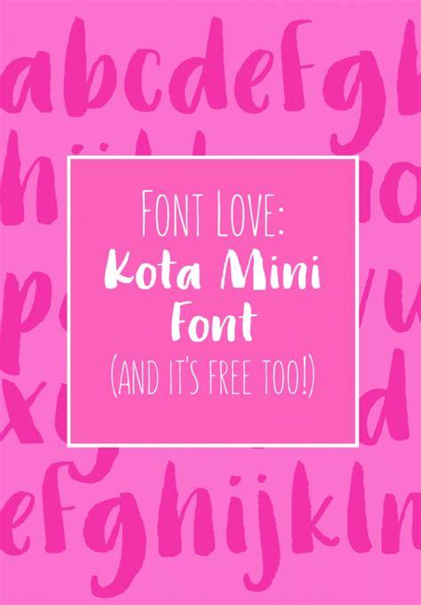 font kota mini fontmaritza