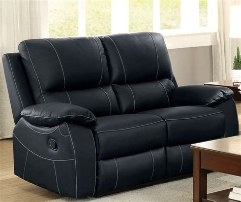 Black Reclining Loveseat by Greeley Black Reclining Loveseat 8325blk 2