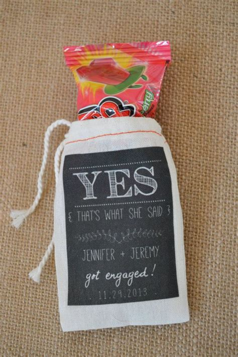 Engagement Party Giveaways - custom engagement party favor bags party ideas pinterest