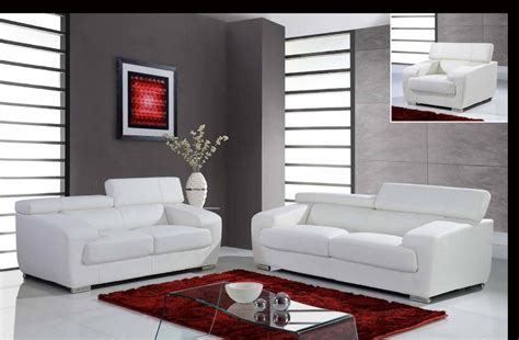 leather white contemporary sofa set with adjustable