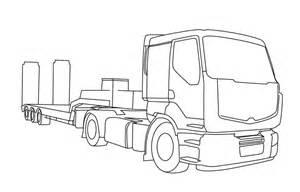 Dessin De Camion Remorque A Imprimer L L L