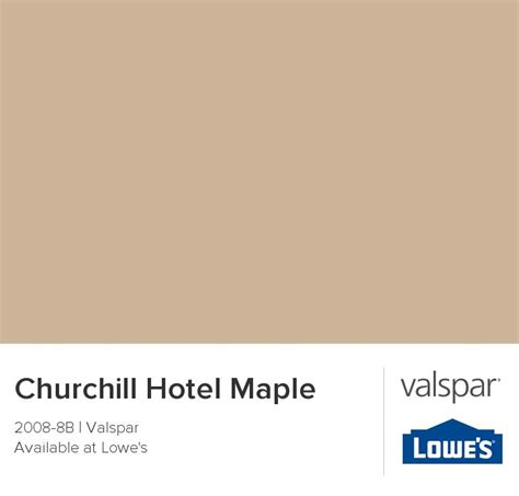 churchill hotel maple from valspar paint palettes