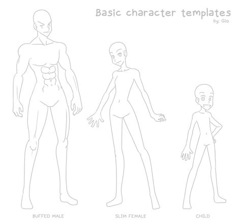 Simple Character Card Template by Makotomikami Gio Gonzalez Deviantart