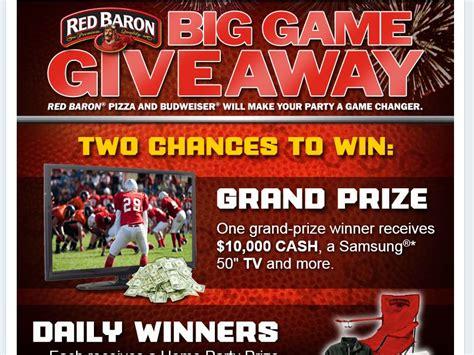Red Baron Sweepstakes - red baron big game giveaway sweepstakes
