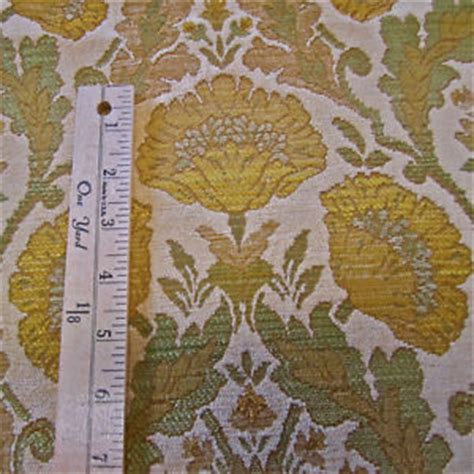 arts and crafts upholstery fabric 1 yds gold poppy arts crafts wm morris style tapestry