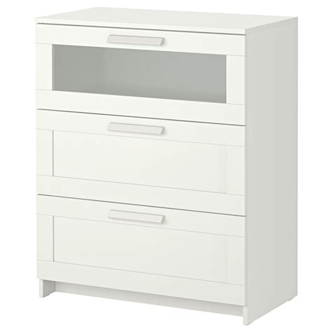 brimnes ikea brimnes chest of 3 drawers white frosted glass 78x95 cm ikea
