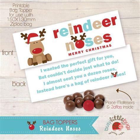 free printable reindeer noses poem reindeer noses bag toppers automatic download