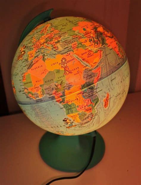 light up globe vintage vintage globe mickey mouse light up tour replogle