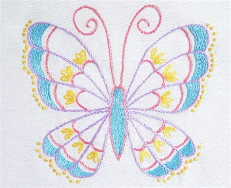 butterfly pattern in c stem stitch butterfly pattern