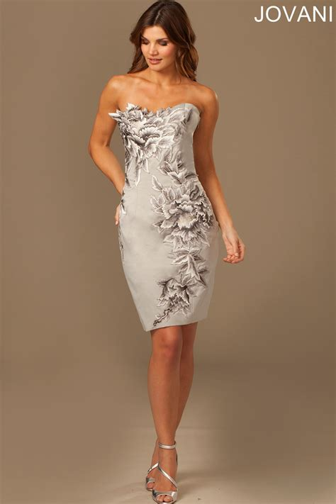 jovani  evening dress floral embellishments