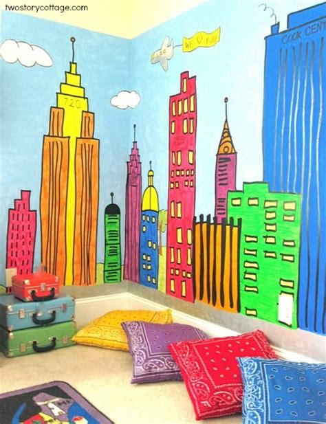 Wall Murals For Kids Playrooms our cottage playroom mural room organization for stout