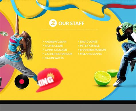 dance studio website template 43212