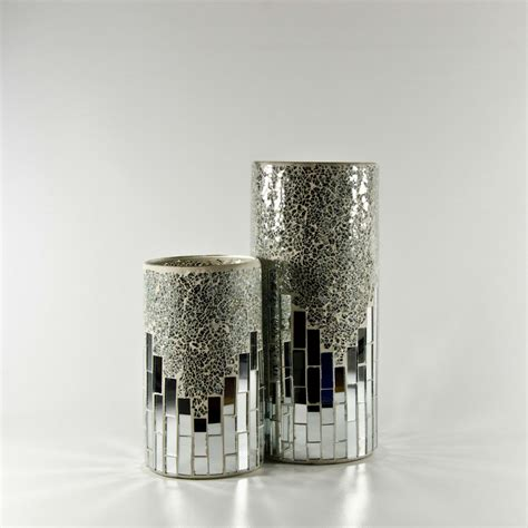 discount wholesale price on mirrored glass cylinder vase