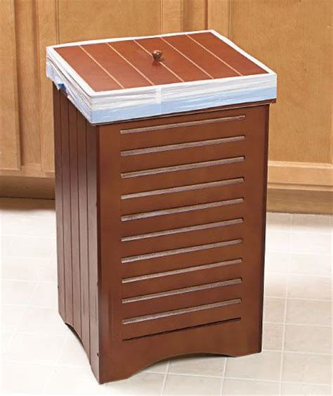 wooden kitchen garbage cans wooden furniture style kitchen garbage can trash bin 3 finishes ebay