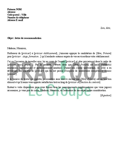 Lettre De Motivation Par Recommandation Modele Lettre De Recommandation Post Doc Document