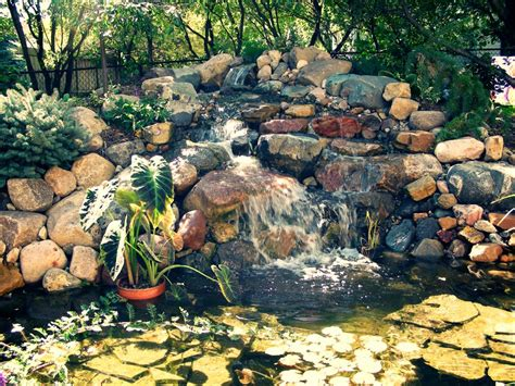 how to build a pond waterfall backyard house exterior and