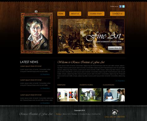 Fine Art Web Template By Crazeeartist On Deviantart Painting Website Templates