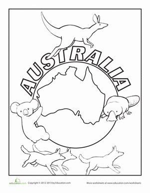 australian christmas coloring sheets coloring pages