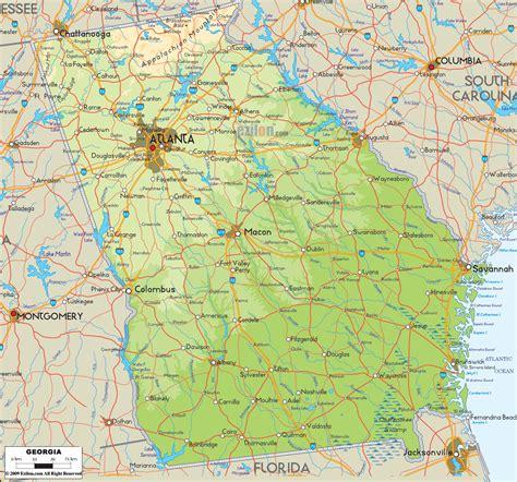 map of uga map map