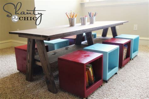 how to build a child s desk ana white double trestle play table diy projects