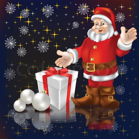 imagenes de santa claus locas santa claus with gifts on a black background stock