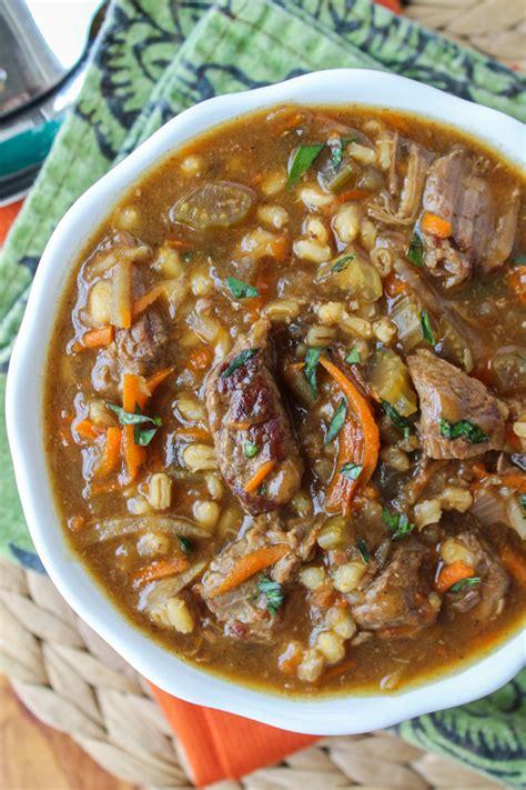 beef barley soup cooker the food charlatan