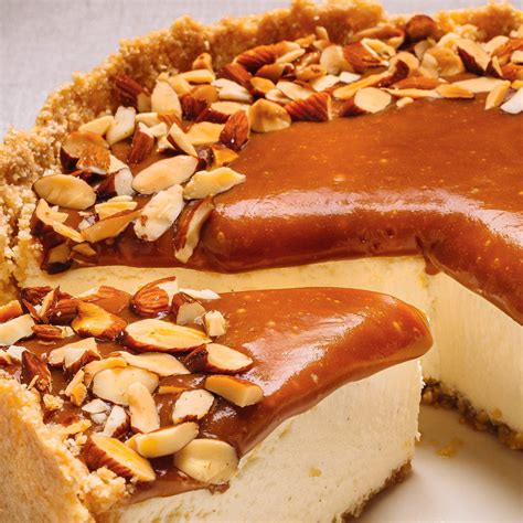Caramel Almond caramel and almond cheesecake ricardo