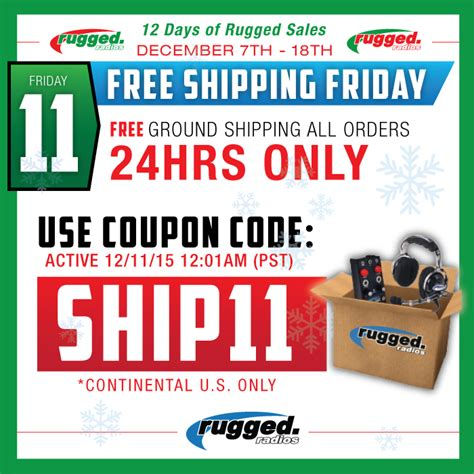 rugged radio coupon code 12 days of rugged savings and specials