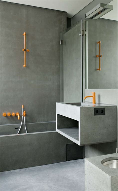 bathroom orange bathroom designs ideas pictures concrete bathroom