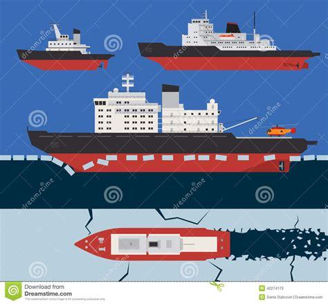 ice boat graphics icebreaker infographics stock vector illustration of