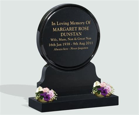Headstone Vase Polished Black Granite Headstone Memorials Of Distinction