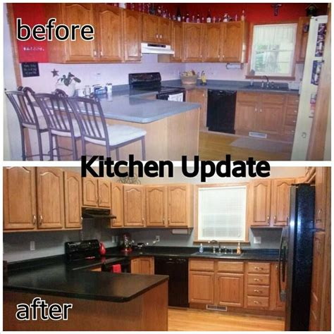 how to tone orange cabinets honey oak kitchen update grey paint color and