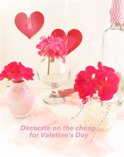 valentines day cheap decorate for valentines day on the cheap