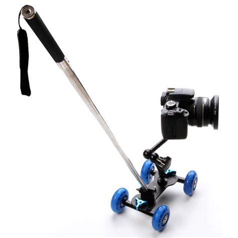 Truck Dolly Photography Pijakan Roda Kamera dolly slider kamera dslr black blue jakartanotebook