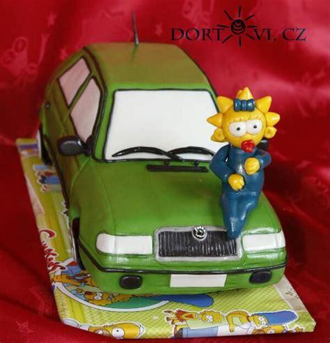 skoda simpsons skoda felicia car cake 3d cake with the maggie