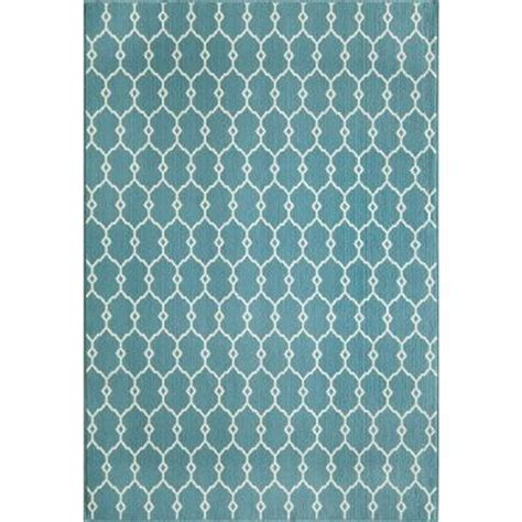 Home Depot Indoor Outdoor Rug by Momeni Baja Blue 5 Ft 3 In X 7 Ft 6 In Indoor Outdoor
