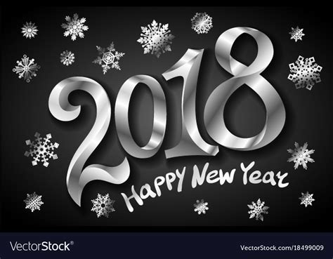 happy new year card templates free happy new year 2018 greeting card design template vector image
