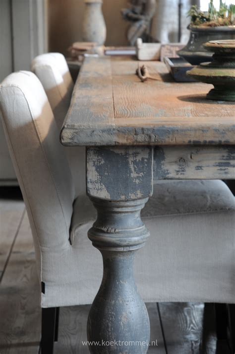 white distressed table and chairs soften a wooden table with upholstered chairs mix it up