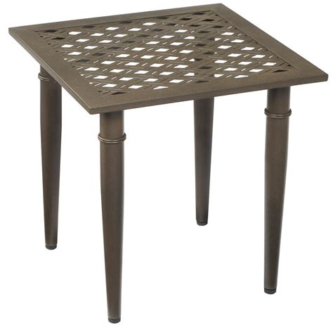 Hton Bay Oak Cliff Metal Outdoor Side Table 176 411 Patio Side Table Metal