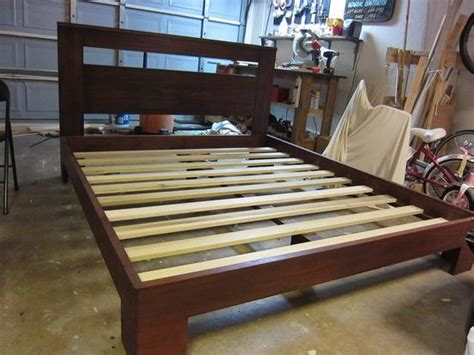 How To Build A Bed Frame And Headboard by How To Build A Beautiful Custom Bed Frame For 300